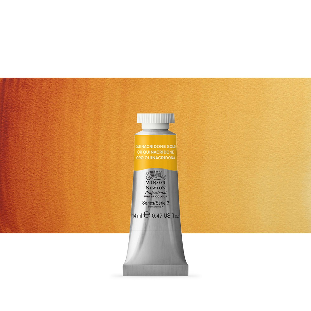 Winsor & Newton : Professional Watercolour Paint : 14ml : Quinacridone Gold