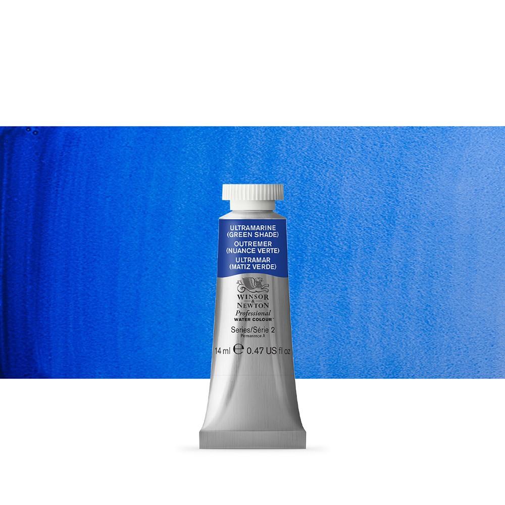Winsor & Newton : Professional Watercolour Paint : 14ml : Ultramarine (Green Shade)