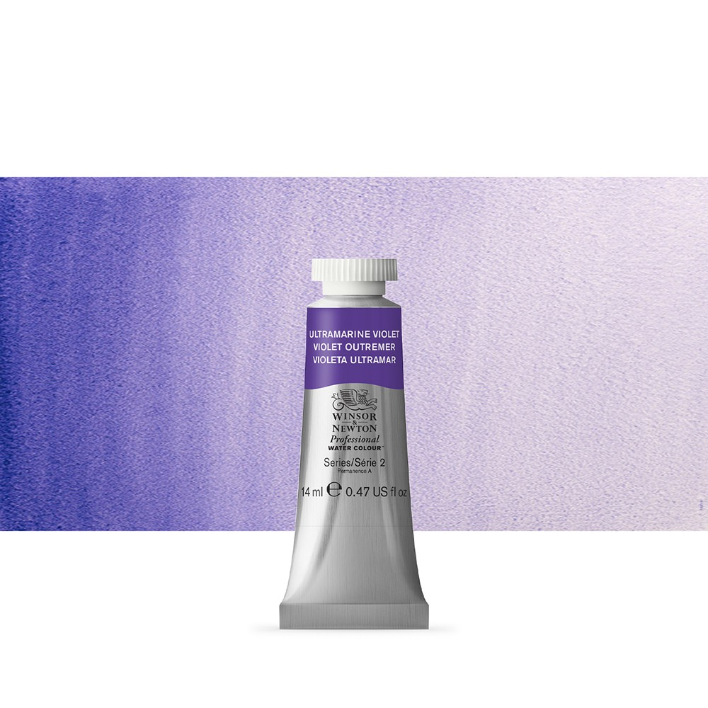 Winsor & Newton : Professional Watercolour Paint : 14ml : Ultramarine Violet