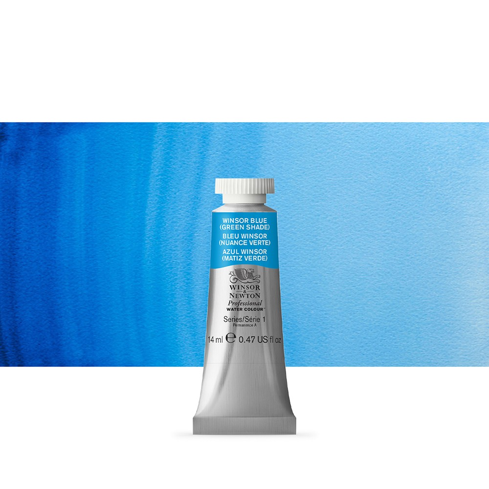Winsor & Newton : Professional Watercolour Paint : 14ml : Winsor Blue (Green Shade)
