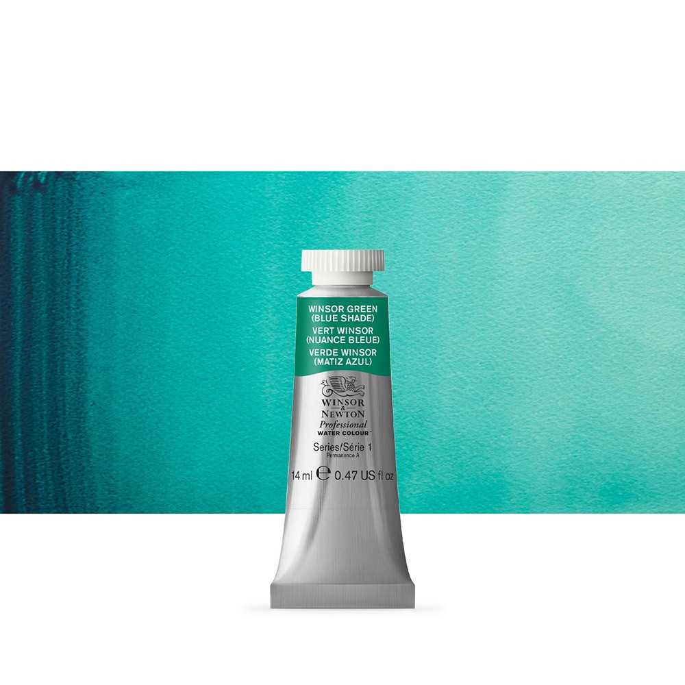 Winsor & Newton : Professional Watercolour Paint : 14ml : Winsor Green (Blue Shade)
