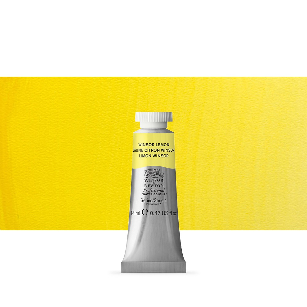 Winsor & Newton : Professional Watercolour Paint : 14ml : Winsor Lemon