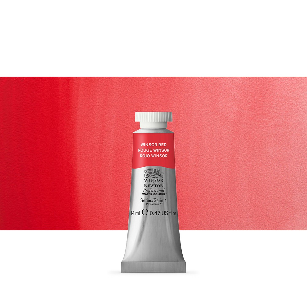 Winsor & Newton : Professional Watercolour Paint : 14ml : Winsor Red