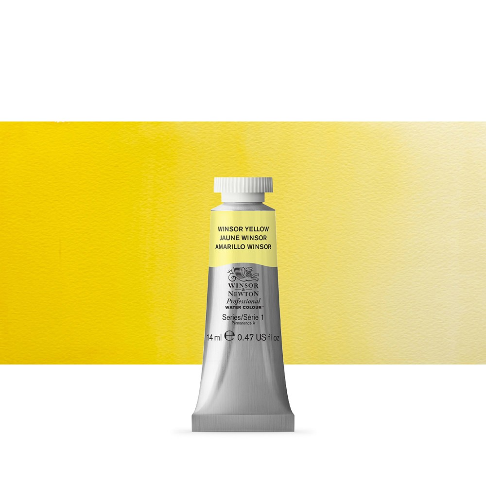 Winsor & Newton : Professional Watercolour Paint : 14ml : Winsor Yellow