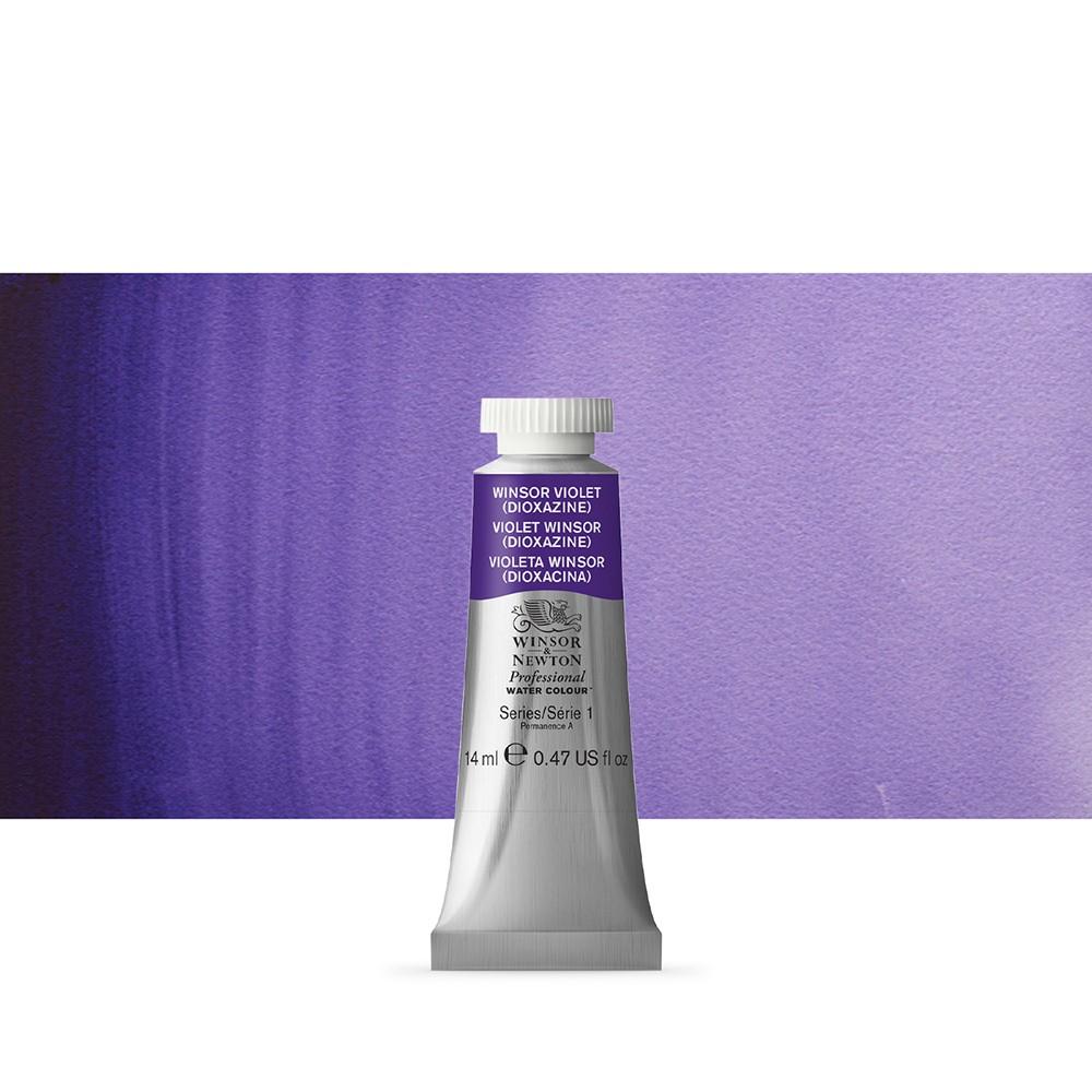 Winsor & Newton : Professional Watercolour Paint : 14ml : Winsor Violet