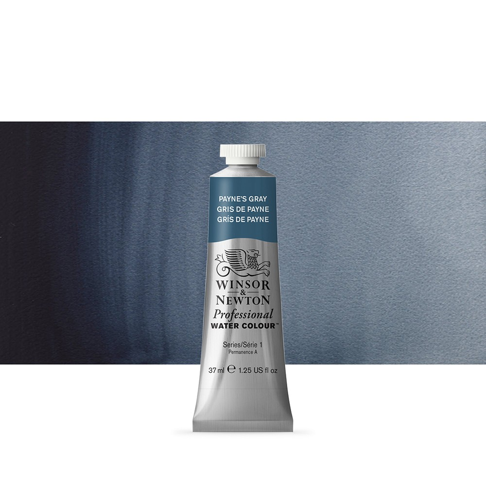 Winsor & Newton : Professional Watercolour Paint : 37ml : Paynes Grey