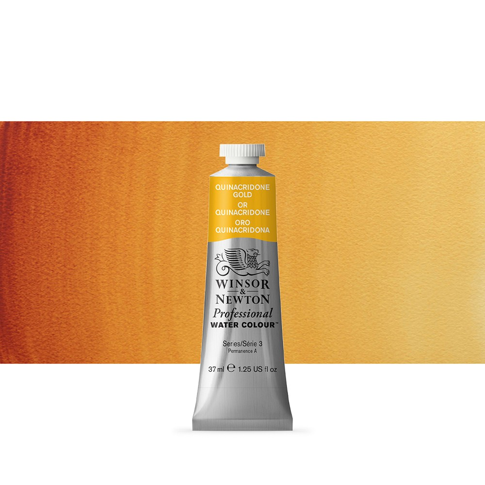Winsor & Newton : Professional Watercolour Paint : 37ml : Quinacridone Gold