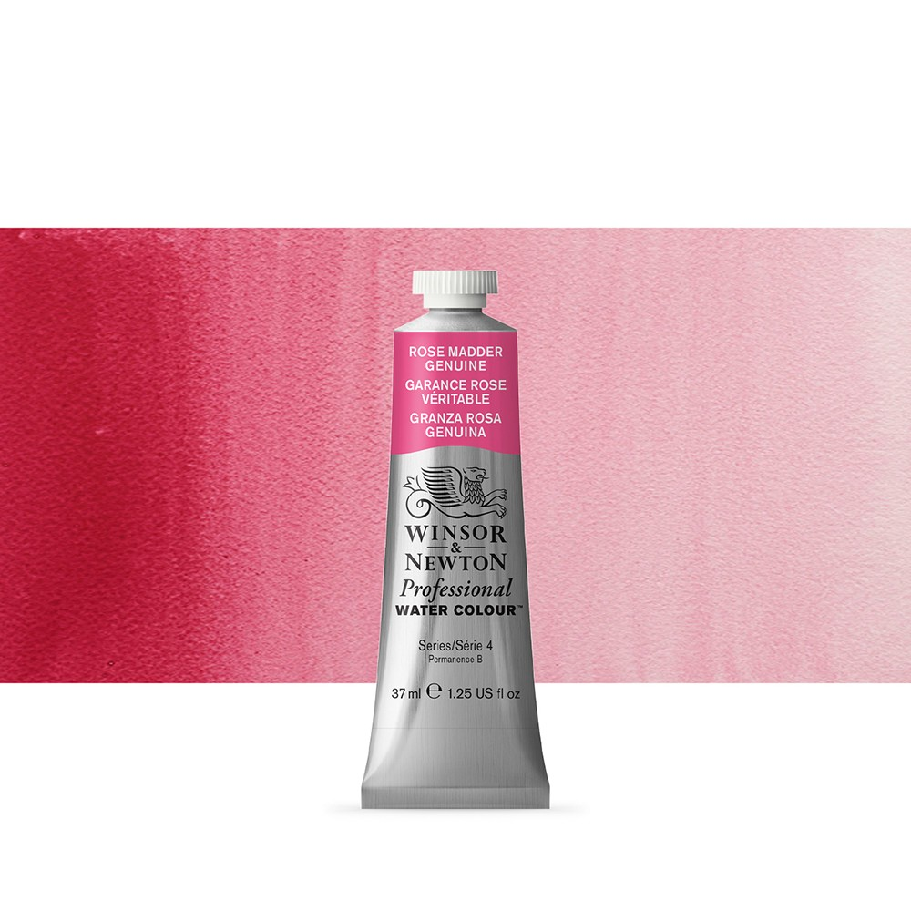 Winsor & Newton : Professional Watercolour Paint : 37ml : Rose Madder Genuine