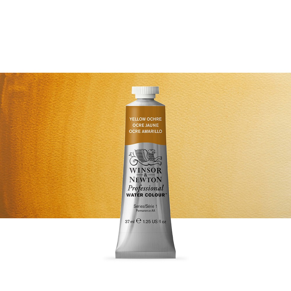 Winsor & Newton : Professional Watercolour Paint : 37ml : Yellow Ochre