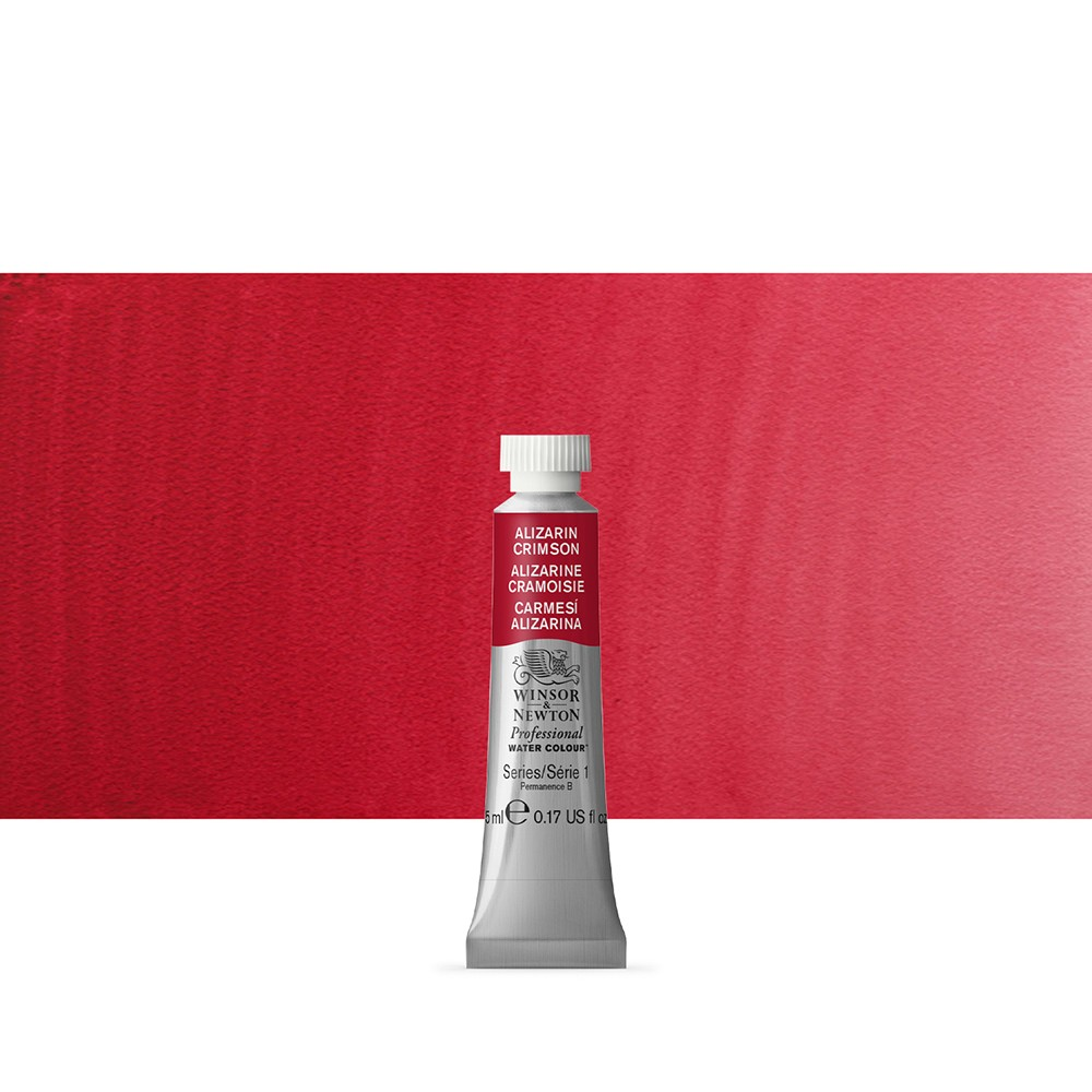 Winsor & Newton : Professional Watercolour Paint : 5ml : Alizarin Crimson