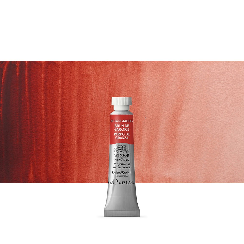 Winsor & Newton : Professional Watercolour Paint : 5ml : Brown Madder