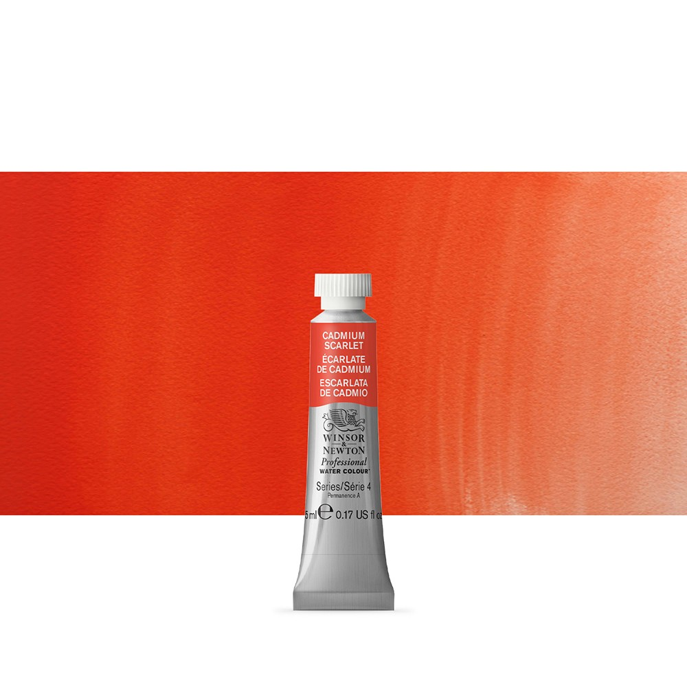 Winsor & Newton : Professional Watercolour Paint : 5ml : Cadmium Scarlet
