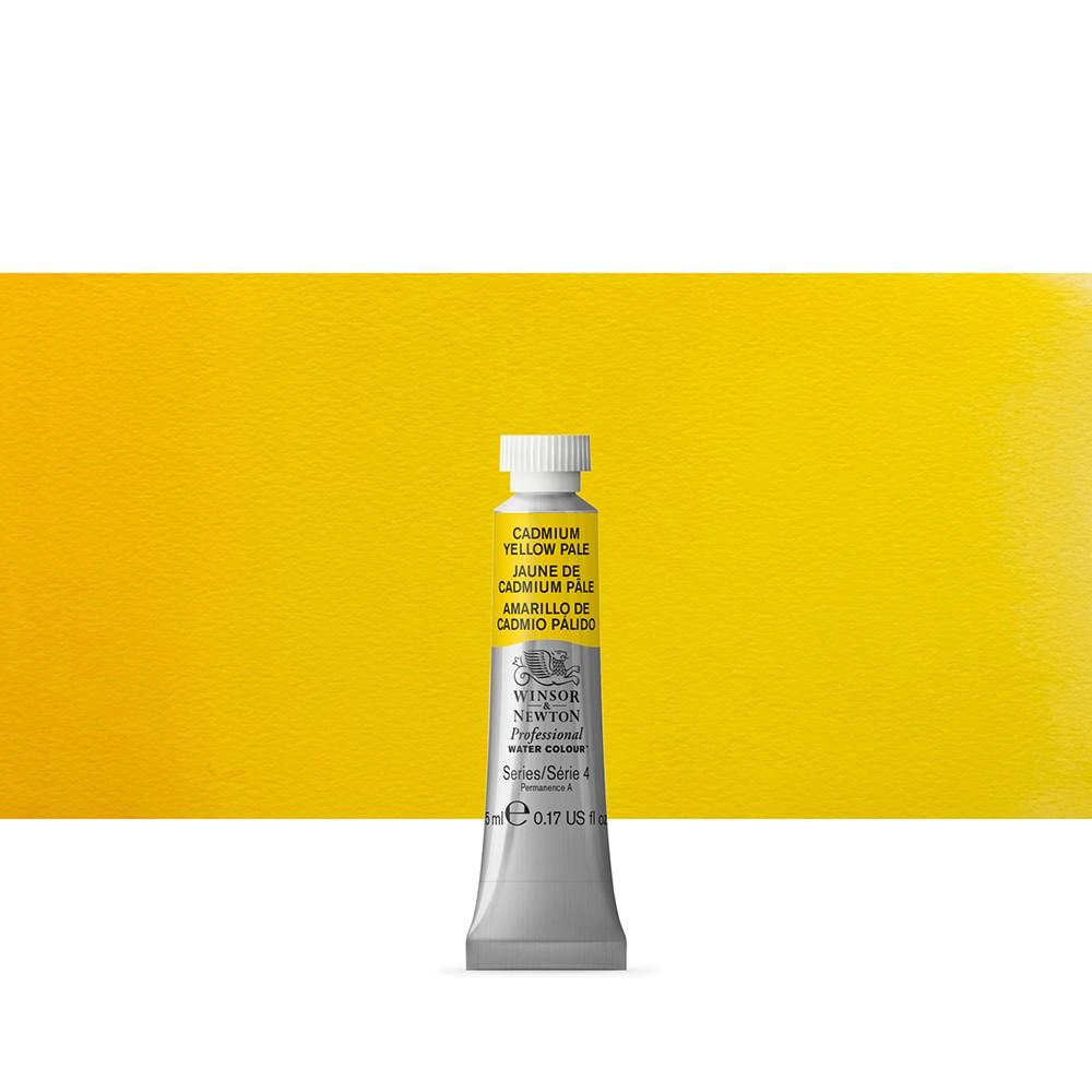 Winsor & Newton : Professional Watercolour Paint : 5ml : Cadmium Yellow Pale