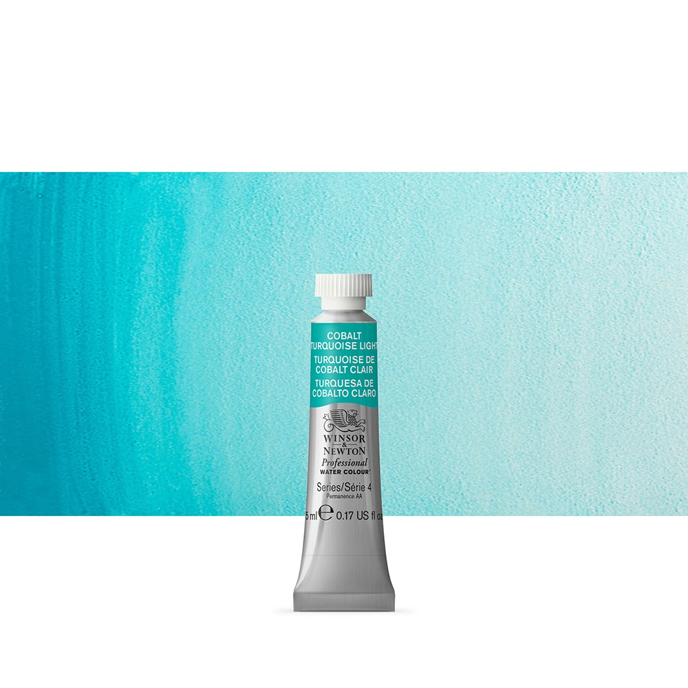 Winsor & Newton : Professional Watercolour Paint : 5ml : Cobalt Turquoise Light