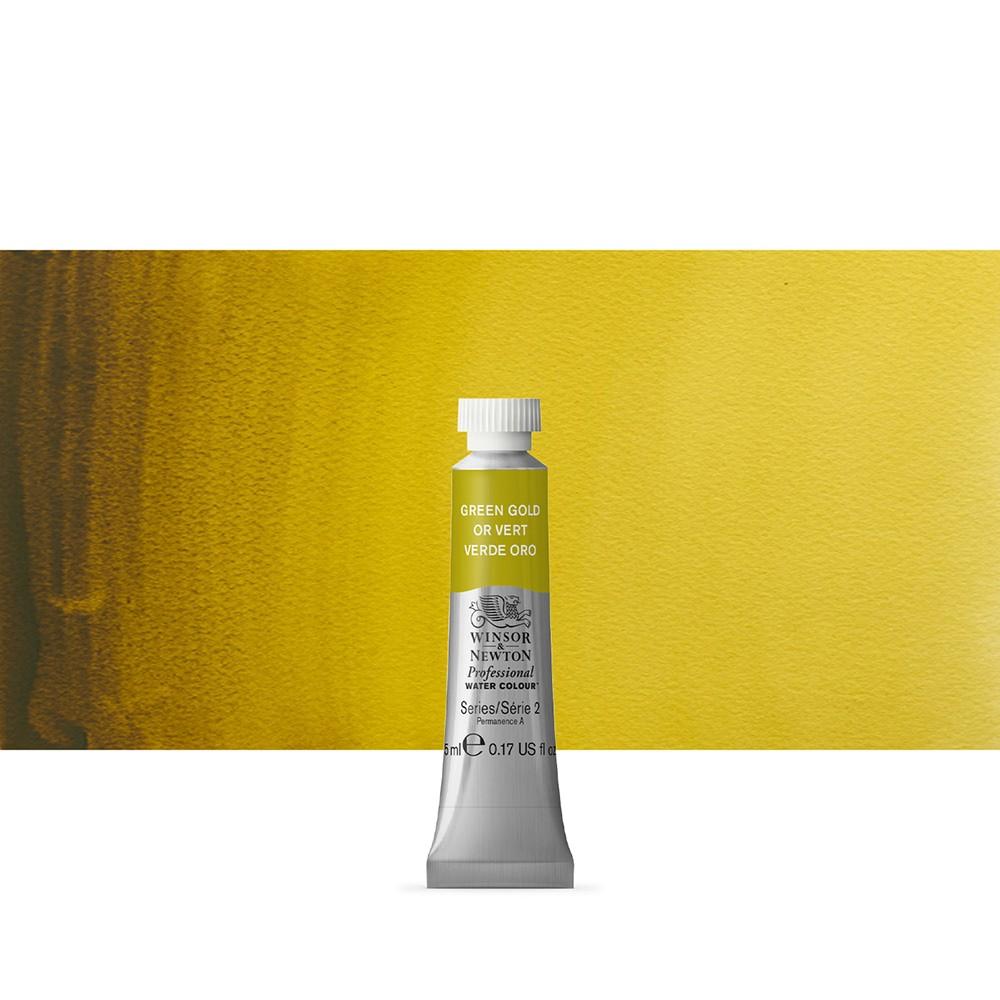 Winsor & Newton : Professional Watercolour Paint : 5ml : Green Gold