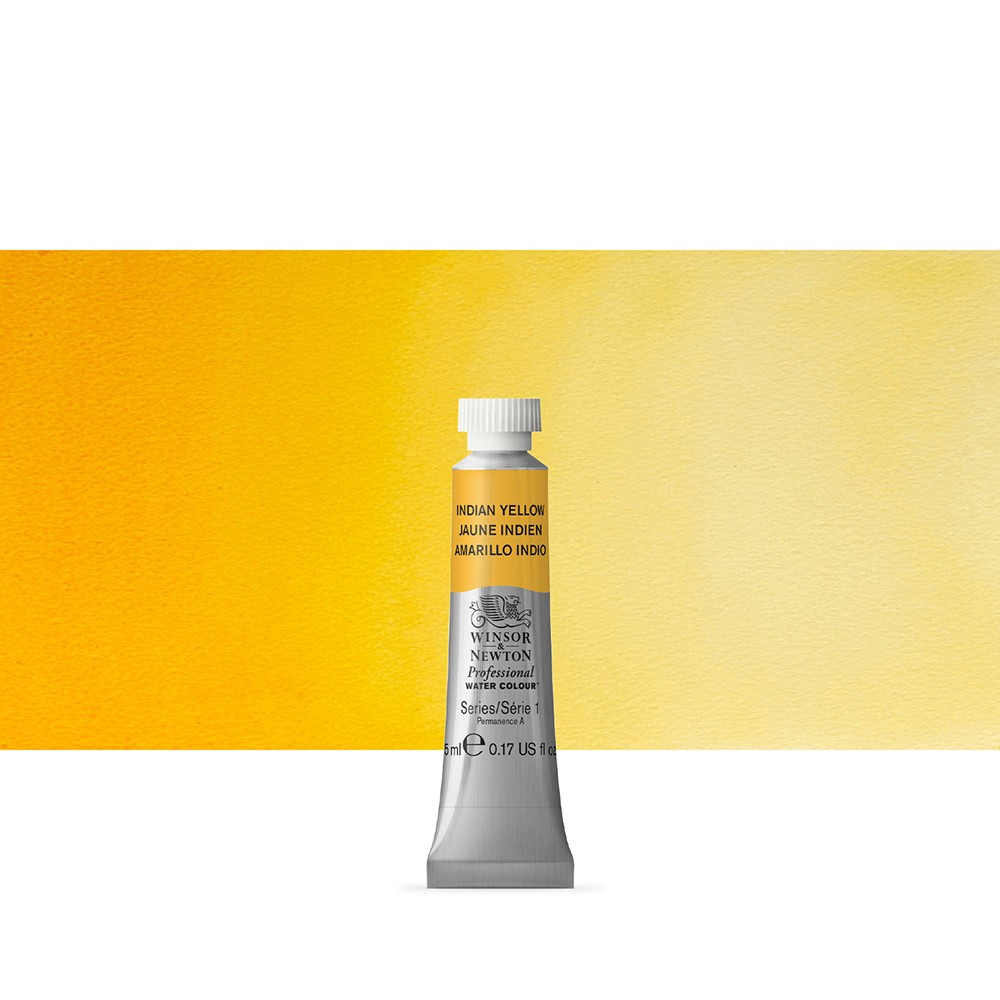 Winsor & Newton : Professional Watercolour Paint : 5ml : Indian Yellow