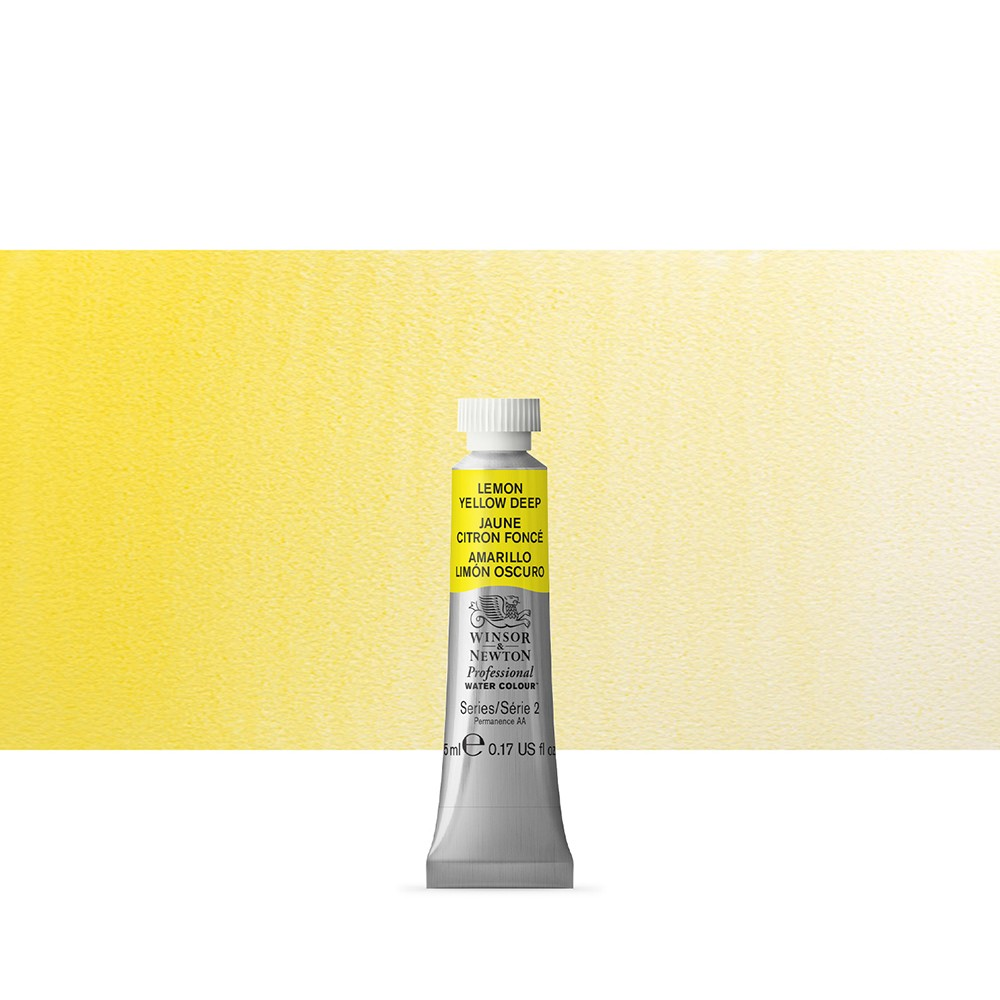 Winsor & Newton : Professional Watercolour Paint : 5ml : Lemon Yellow Deep