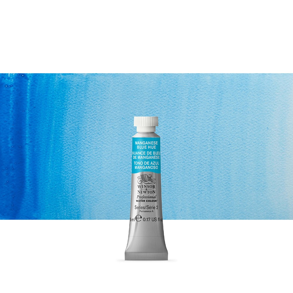 Winsor & Newton : Professional Watercolour Paint : 5ml : Manganese Blue Hue
