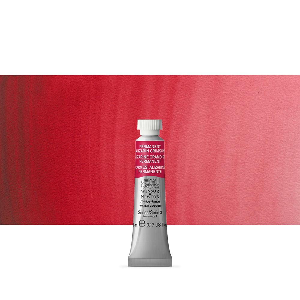 Winsor & Newton : Professional Watercolour Paint : 5ml : Permanent Alizarin Crimson