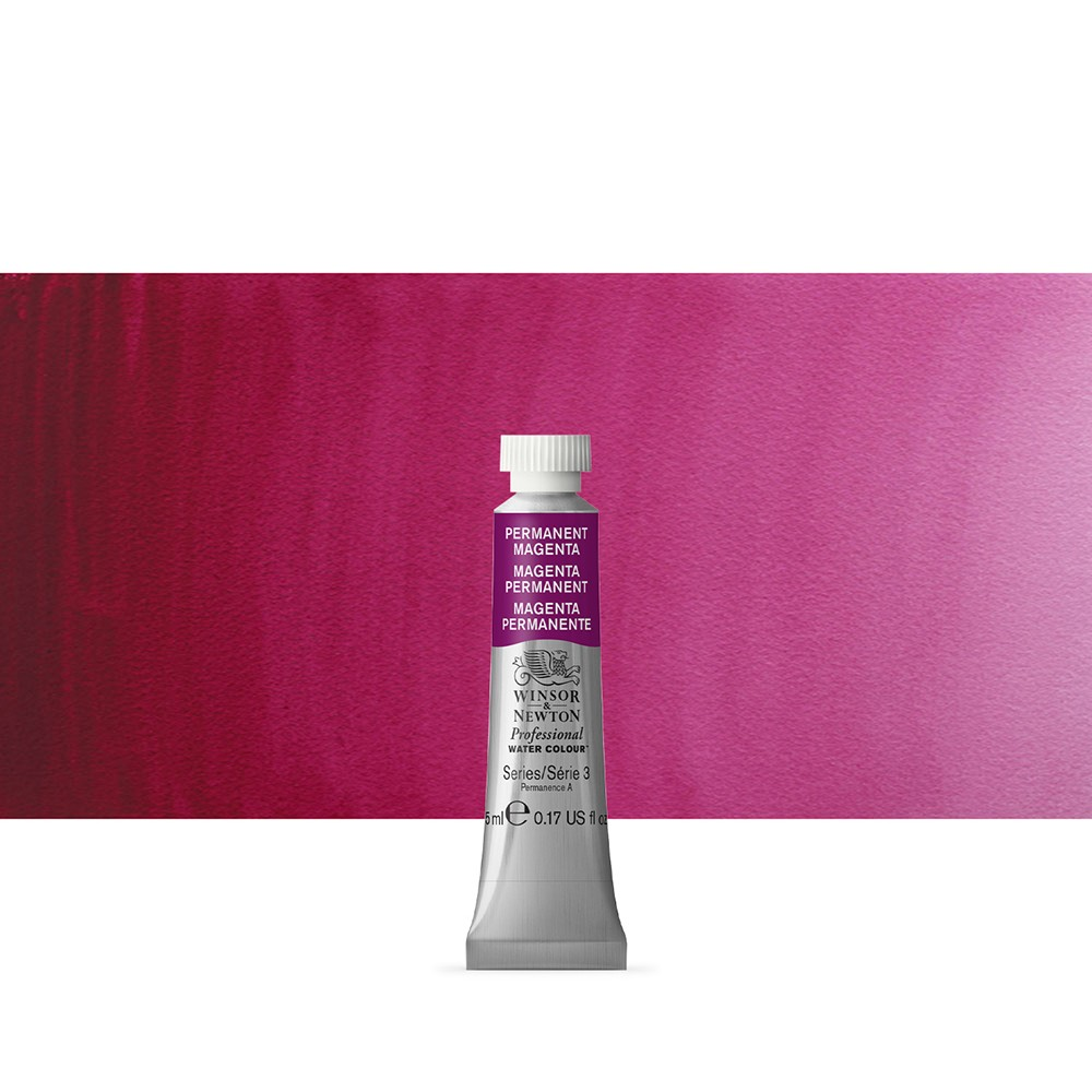Winsor & Newton : Professional Watercolour Paint : 5ml : Permanent Magenta