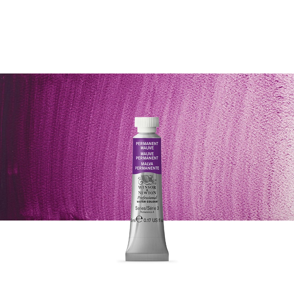 Winsor & Newton : Professional Watercolour Paint : 5ml : Permanent Mauve