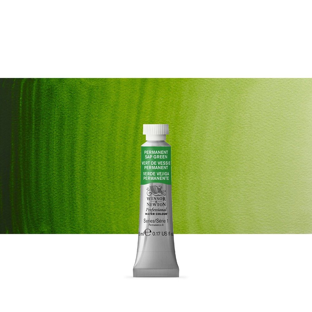 Winsor & Newton : Professional Watercolour Paint : 5ml : Permanent Sap Green