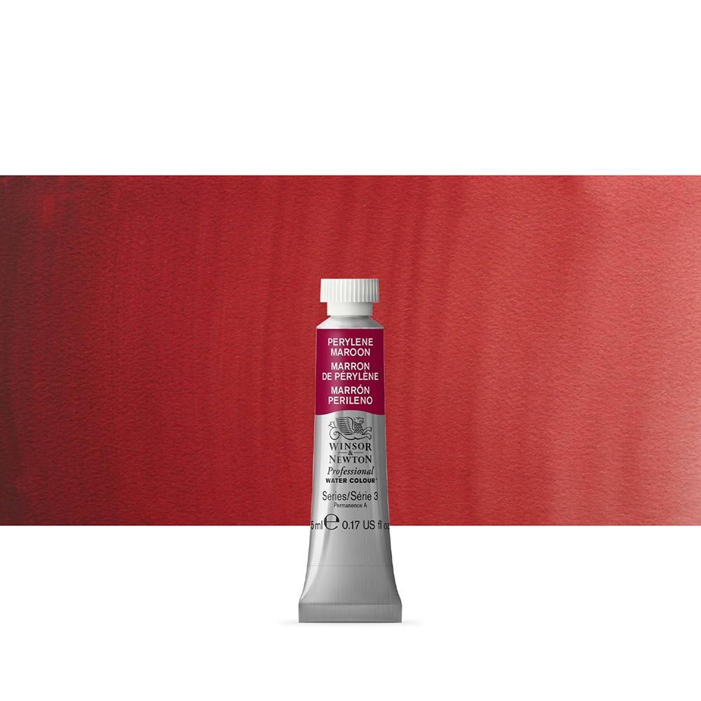 Winsor & Newton : Professional Watercolour Paint : 5ml : Perylene Maroon