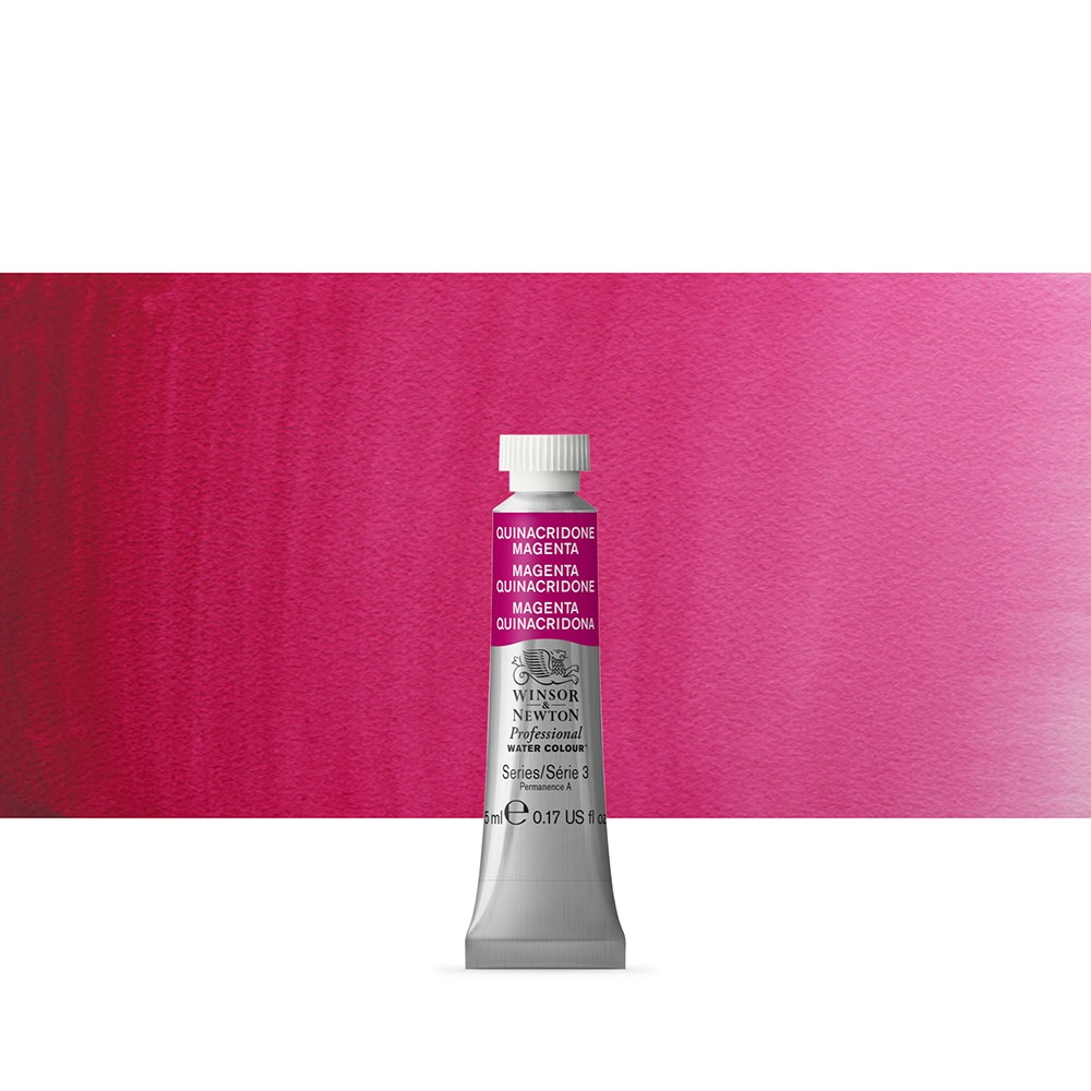 Winsor & Newton : Professional Watercolour Paint : 5ml : Quinacridone Magenta
