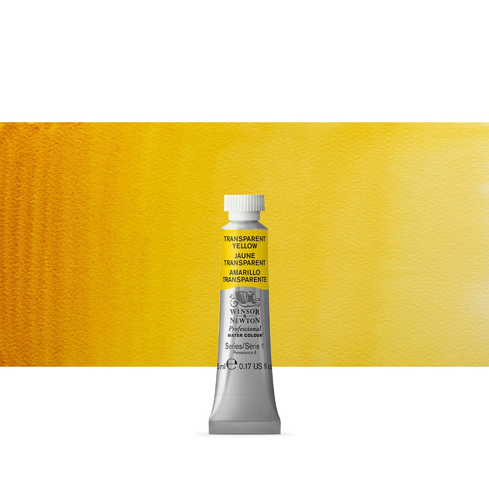 Winsor & Newton : Professional Watercolour Paint : 5ml : Transparent Yellow