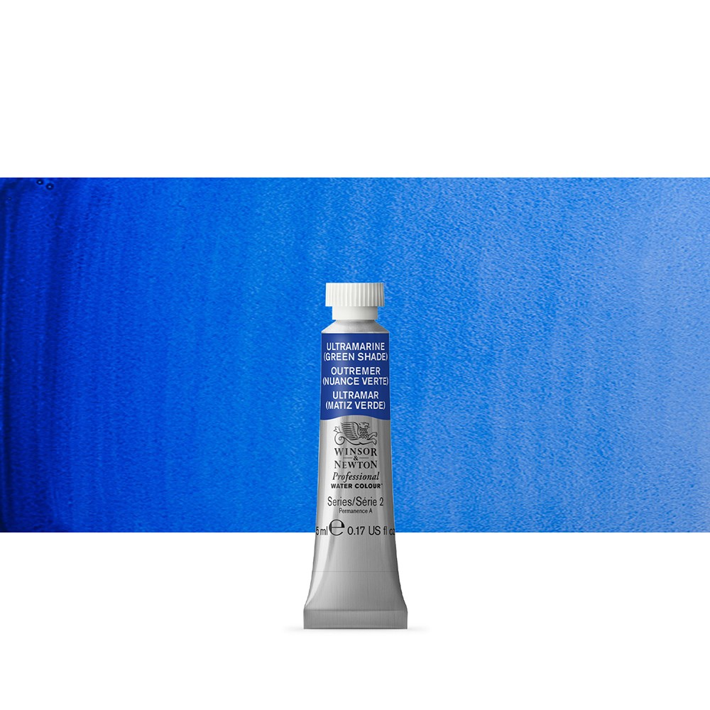 Winsor & Newton : Professional Watercolour Paint : 5ml : Ultramarine (Green Shade)