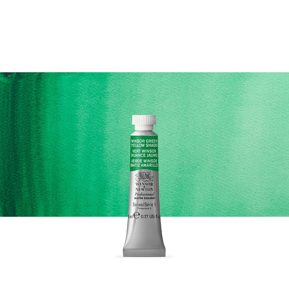 Winsor & Newton : Professional Watercolour : 5ml : Winsor Green (Yellow Shade)