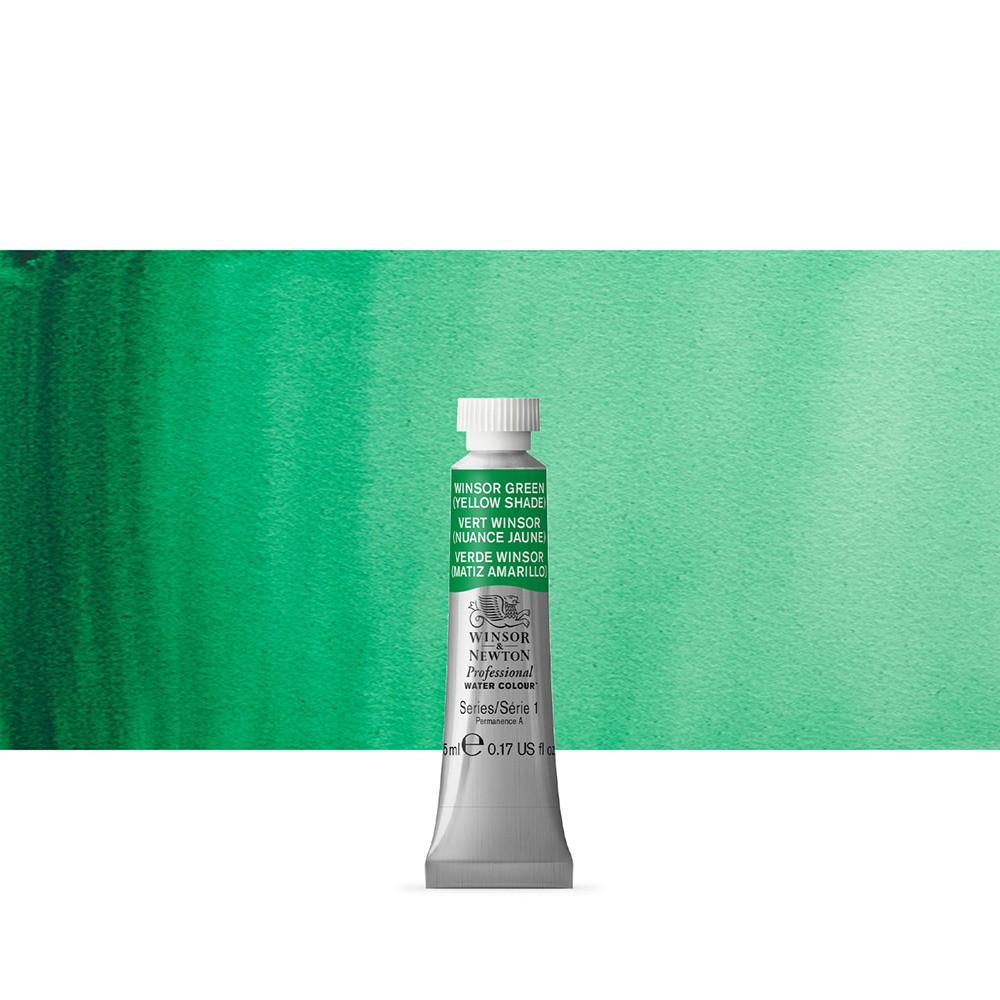 Winsor & Newton : Professional Watercolour Paint : 5ml : Winsor Green (Yellow Shade)