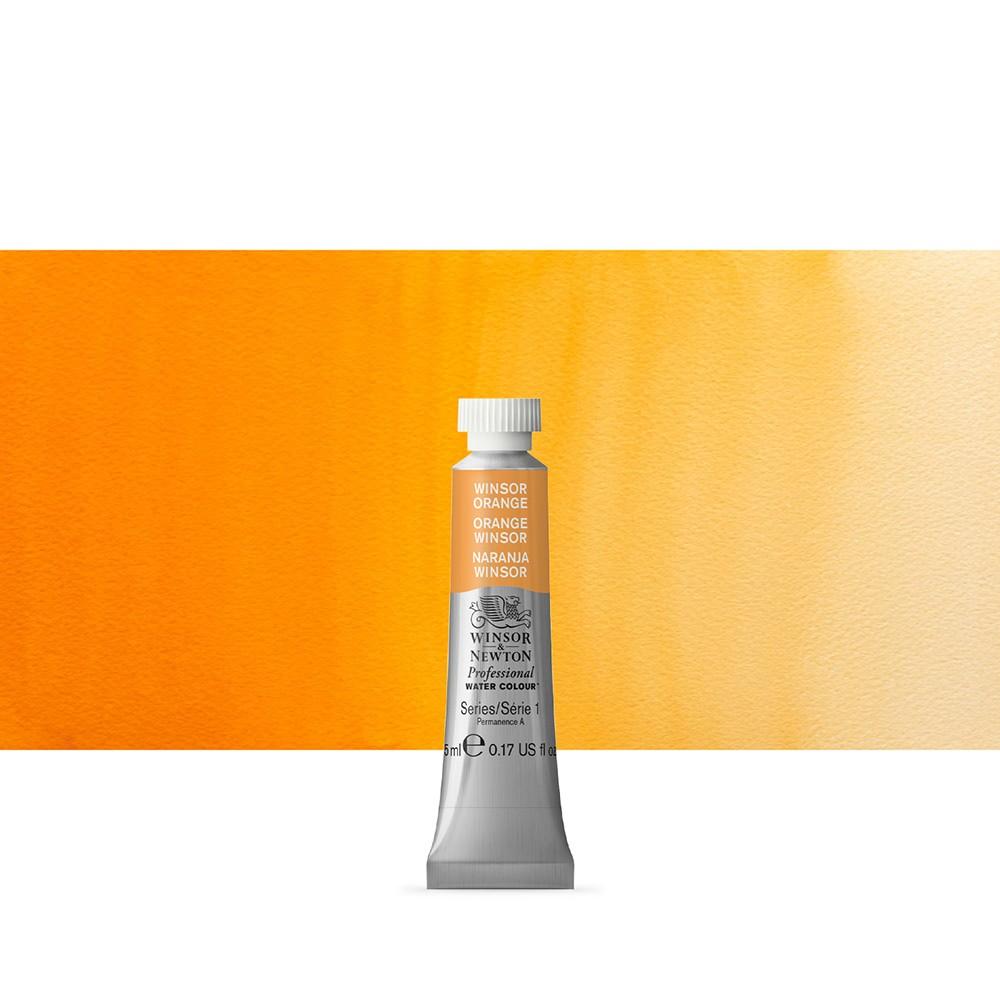Winsor & Newton : Professional Watercolour Paint : 5ml : Winsor Orange