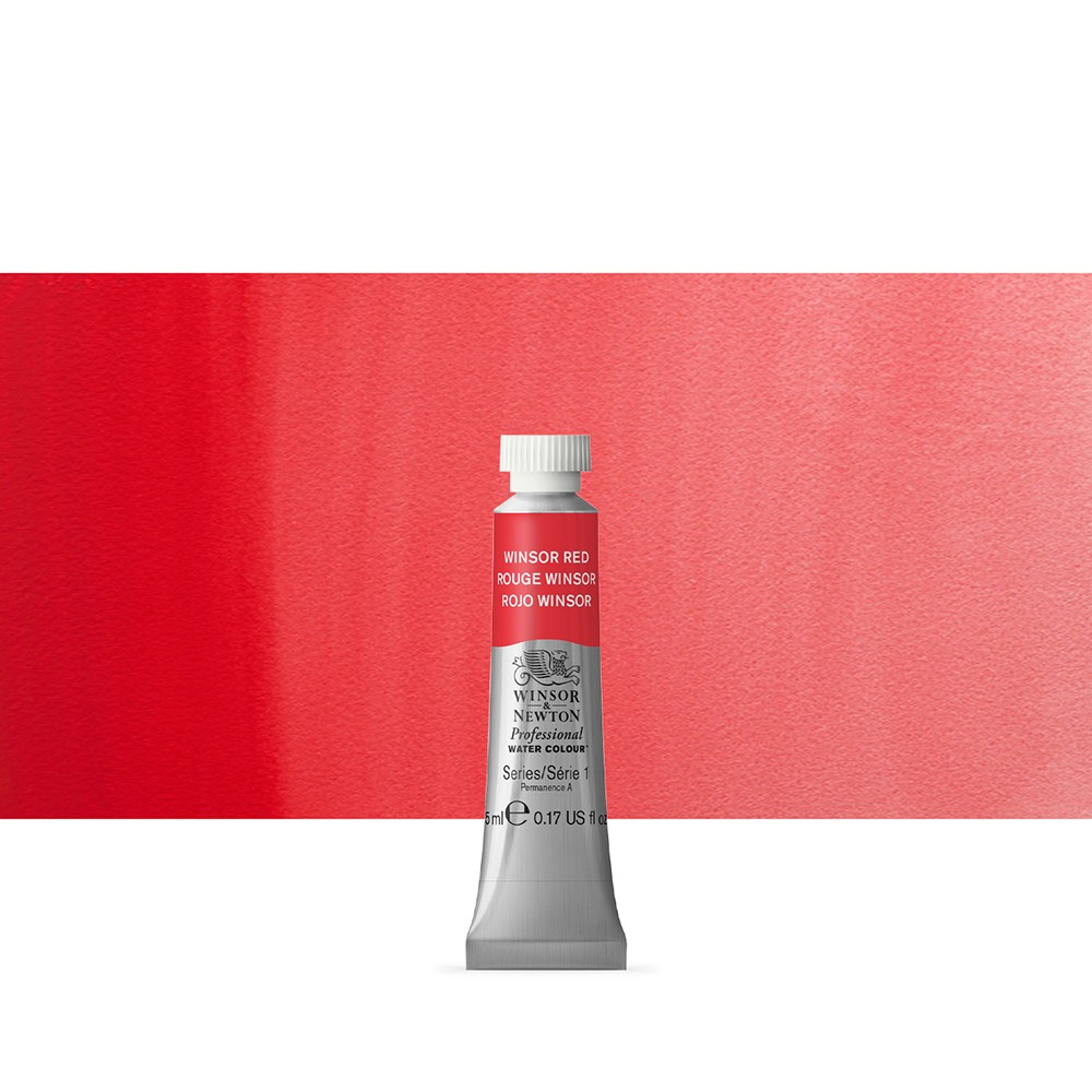 Winsor & Newton : Professional Watercolour Paint : 5ml : Winsor Red