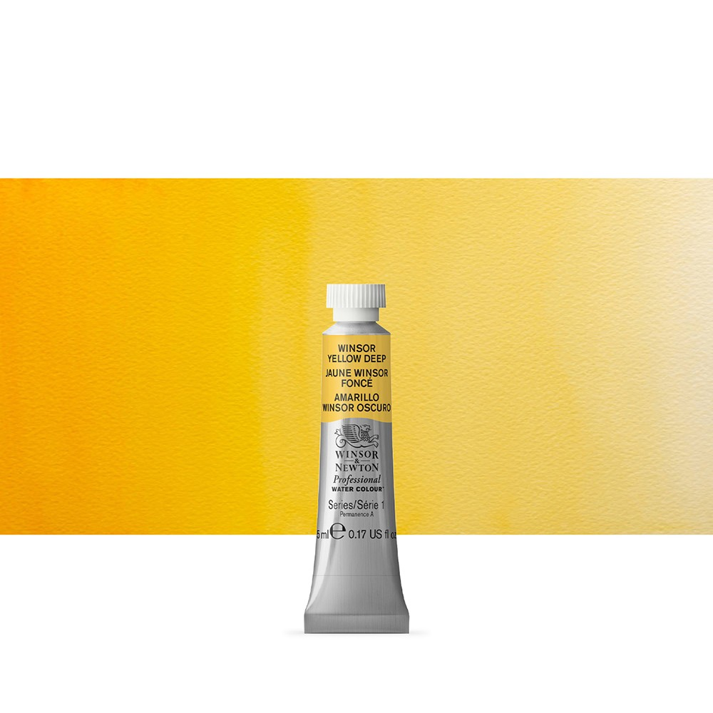 Winsor & Newton : Professional Watercolour Paint : 5ml : Winsor Yellow Deep