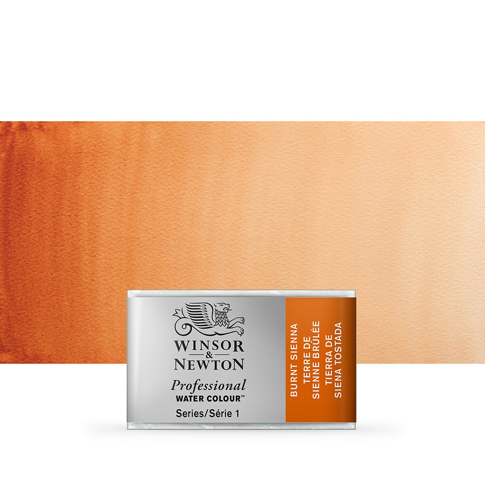 Winsor & Newton : Professional Watercolour Paint : Full Pan : Burnt Sienna
