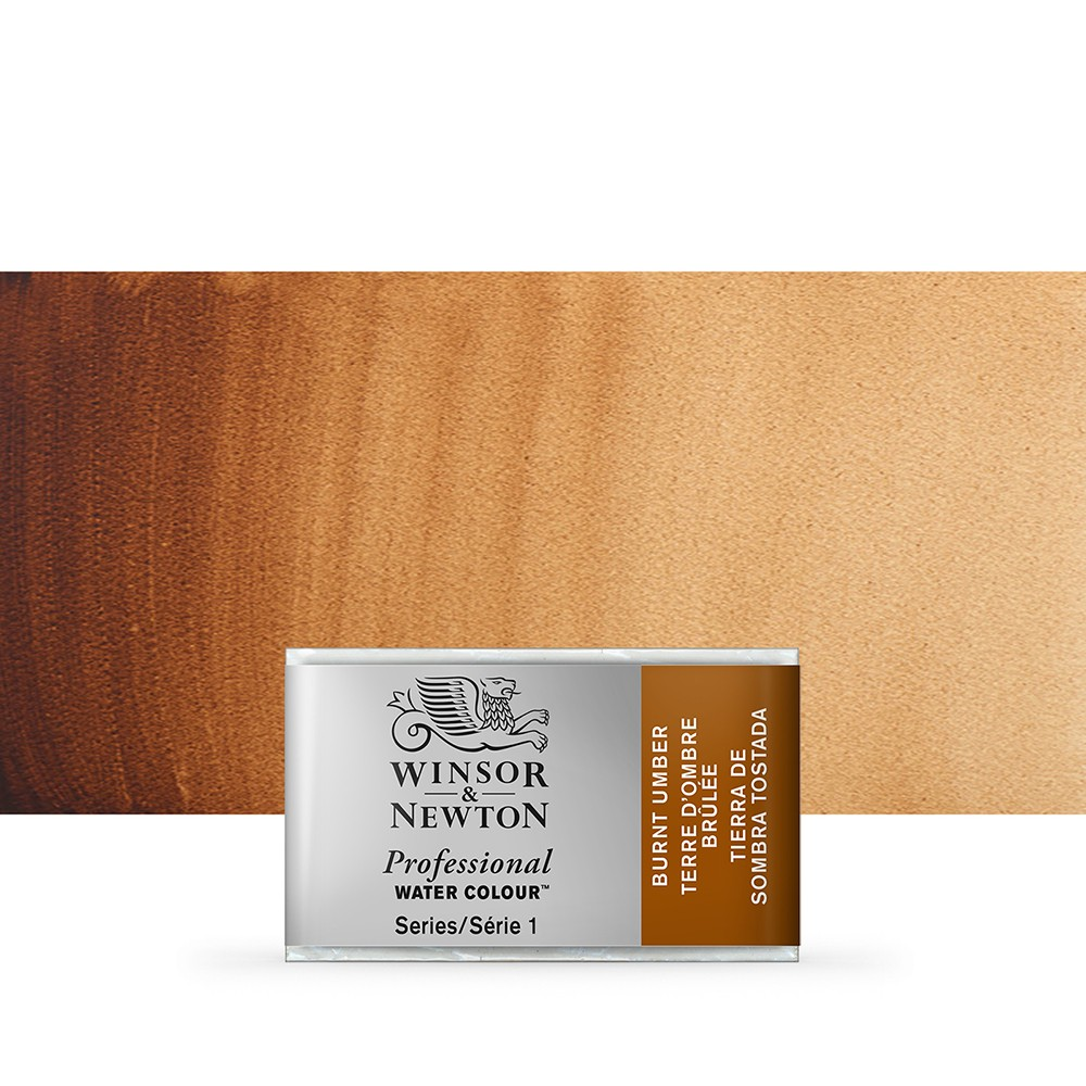 Winsor & Newton : Professional Watercolour Paint : Full Pan : Burnt Umber