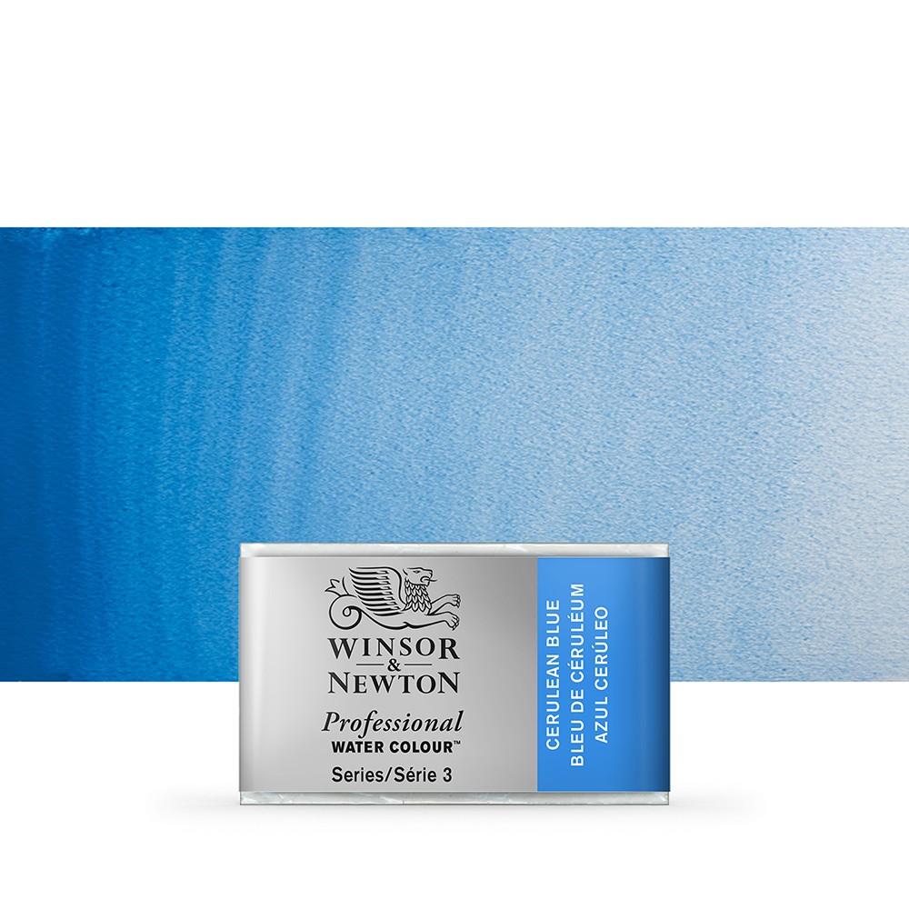 Winsor & Newton : Professional Watercolour Paint : Full Pan : Cerulean Blue
