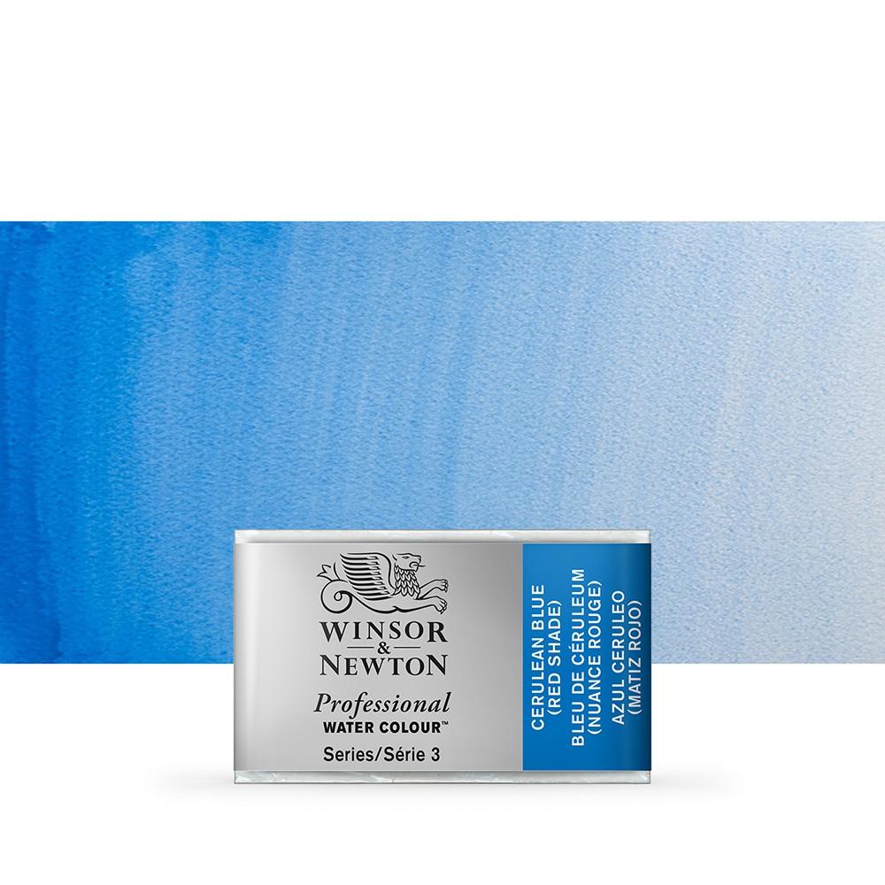Winsor & Newton : Professional Watercolour Paint : Full Pan : Cerulean Blue (Red Shade)