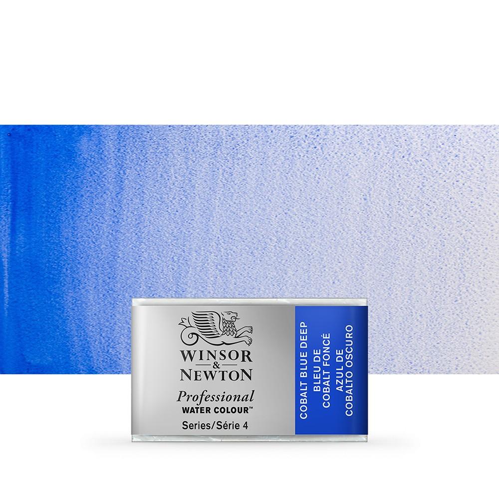 Winsor & Newton : Professional Watercolour Paint : Full Pan : Cobalt Blue Deep