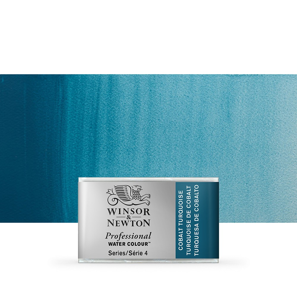 Winsor & Newton : Professional Watercolour Paint : Full Pan : Cobalt Turquoise