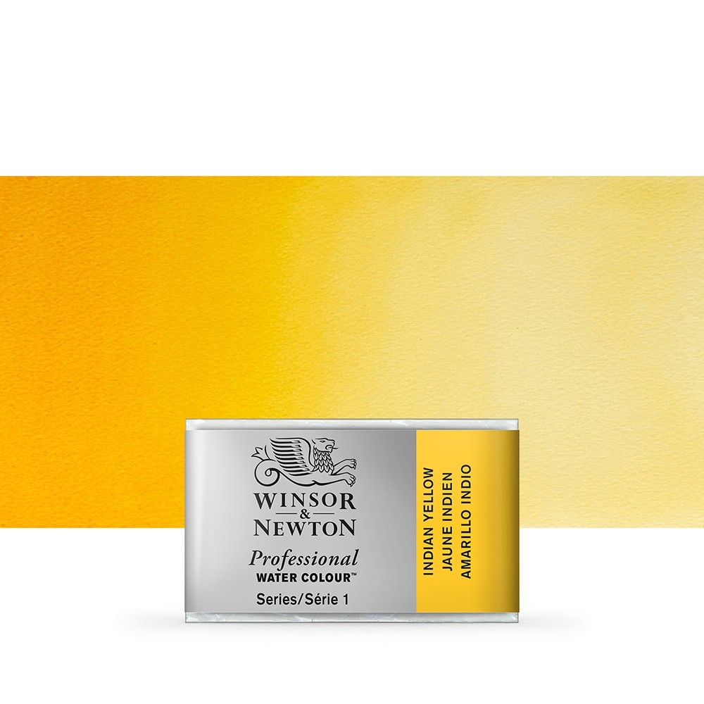 Winsor & Newton : Professional Watercolour Paint : Full Pan : Indian Yellow
