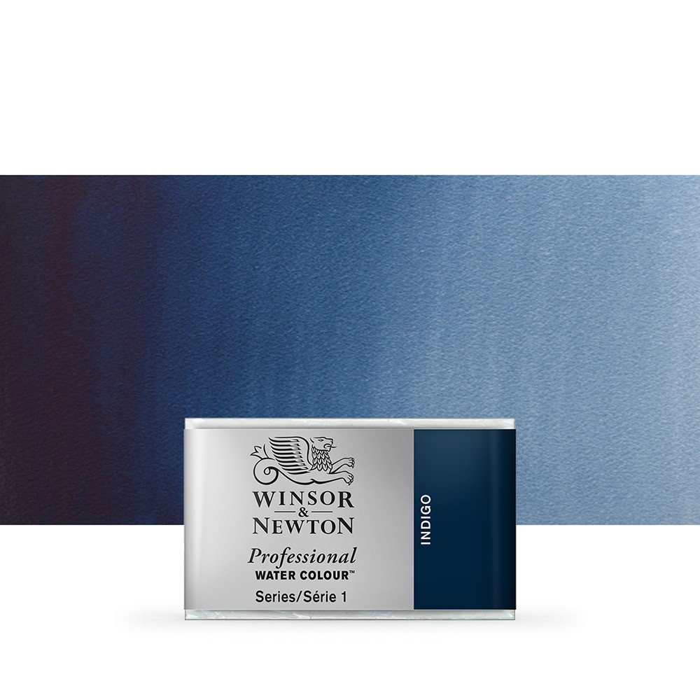 Winsor & Newton : Professional Watercolour Paint : Full Pan : Indigo