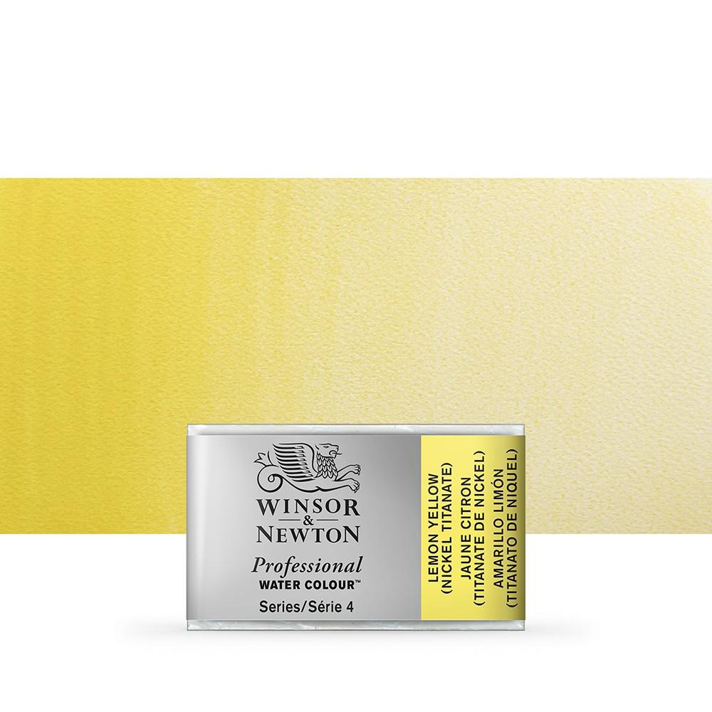 Winsor & Newton : Professional Watercolour Paint : Full Pan : Lemon Yellow