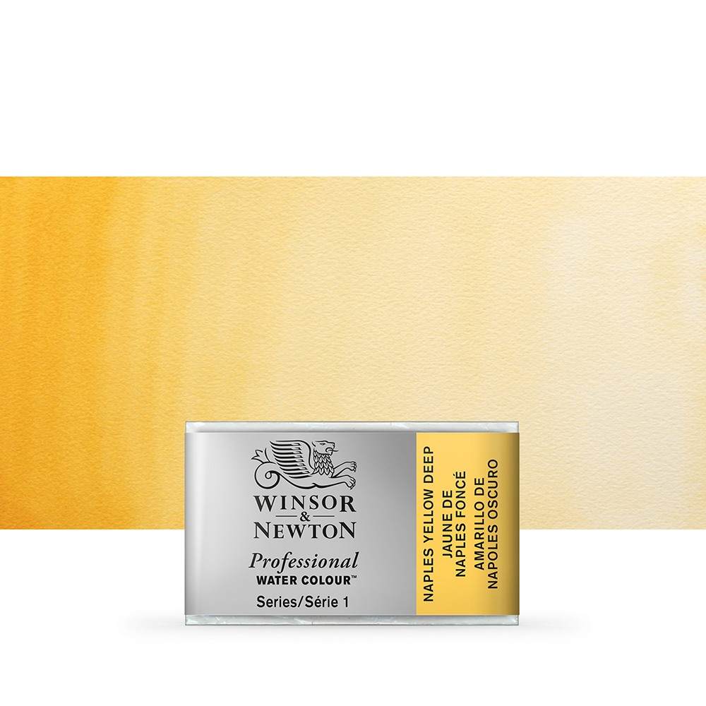 Winsor & Newton : Professional Watercolour Paint : Full Pan : Naples Yellow Deep