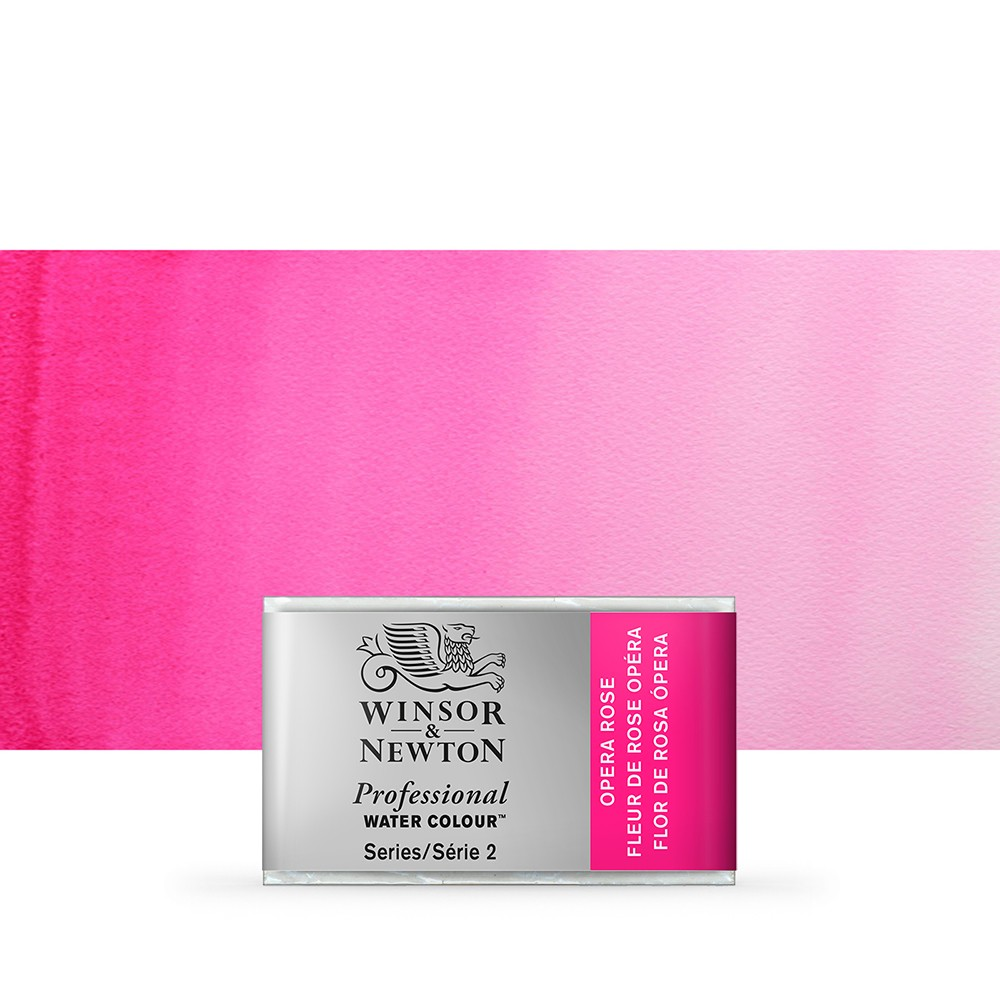 Winsor & Newton : Professional Watercolour Paint : Full Pan : Opera Rose
