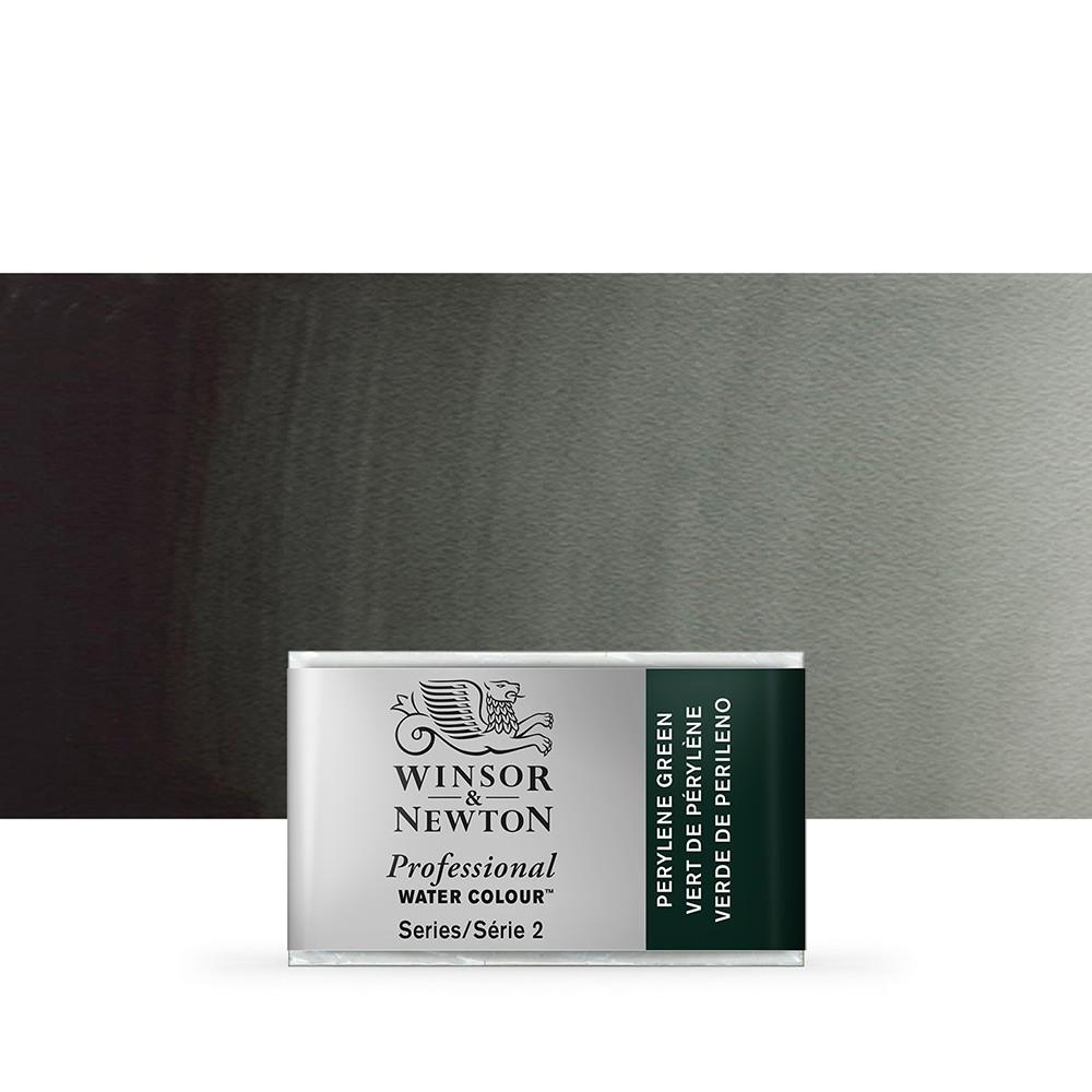 Winsor & Newton : Professional Watercolour Paint : Full Pan : Perylene Green