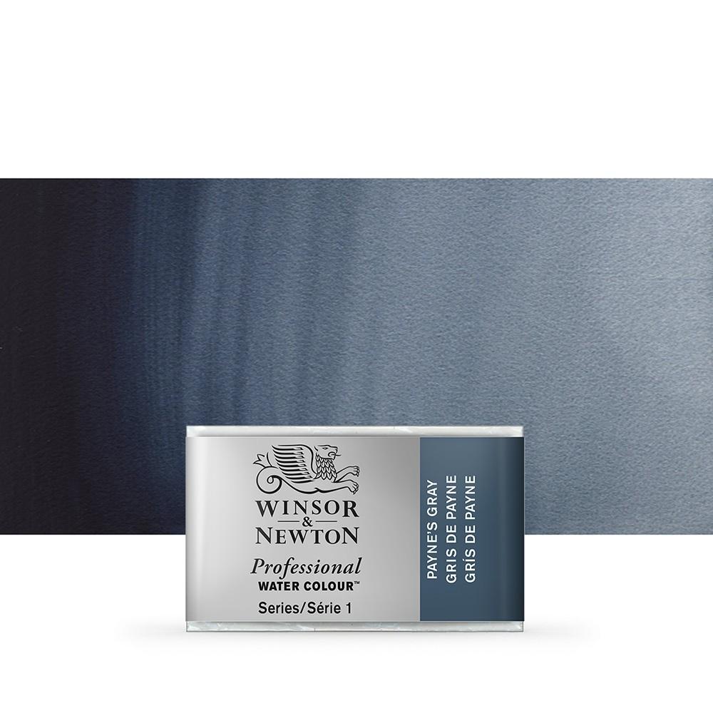 Winsor & Newton : Professional Watercolour Paint : Full Pan : Paynes Grey