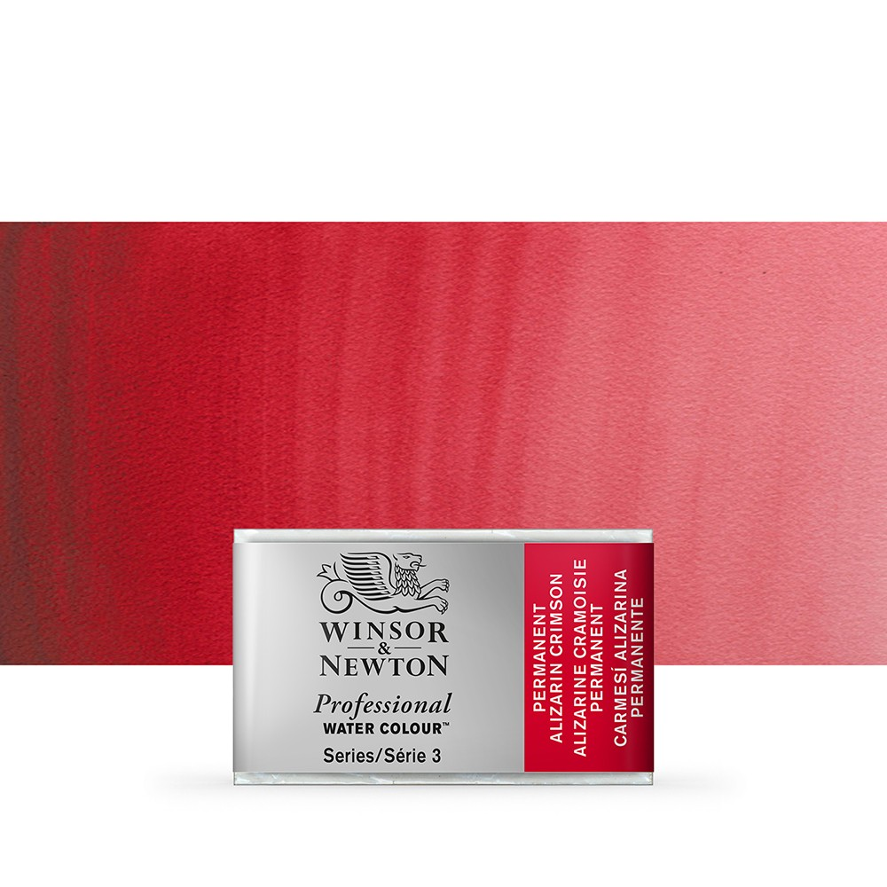 Winsor & Newton : Professional Watercolour Paint : Full Pan : Permanent Alizarin Crimson