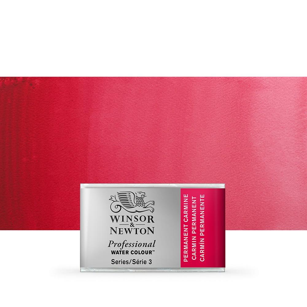 Winsor & Newton : Professional Watercolour Paint : Full Pan : Permanent Carmine